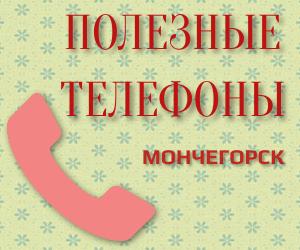 Полезные телефоны мончегорск